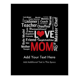 Motherhood - All the Amazing Things Mothers Do Poster