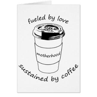 Motherhood (Blank Notecard): Love & Coffee Card