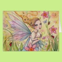 Motherhood Fairy Mother and Baby Fantasy Art Card