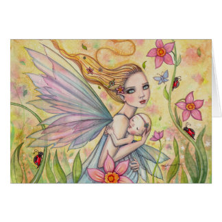 Motherhood Fairy Mother and Baby Fantasy Art Card