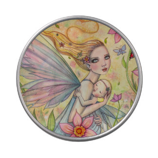 Motherhood Fairy Mother and Baby Illustration Jelly Belly Tin