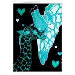 Motherhood: Giraffes Art Card