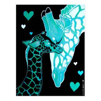 Motherhood Giraffes Postcard