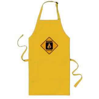 Motherhood Is A Lot Of Work (Yellow Warning Sign) Long Apron
