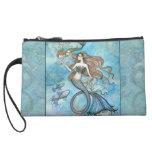 Motherhood Mermaid Fantasy Art Mini Satin Bag Wristlet Purse