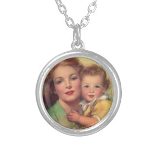 Motherhood - Necklace. Silver Plated Necklace