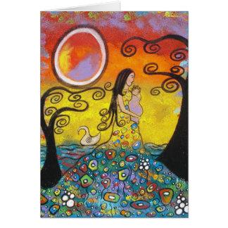 Motherhood Original Art Mother's Day Card