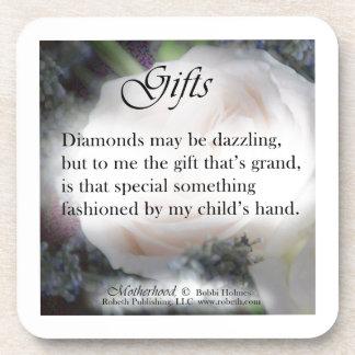 Motherhood Poetry Gift Items, Diamonds Beverage Coaster