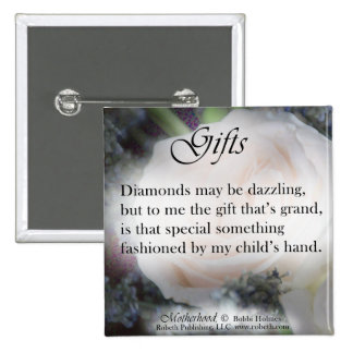 Motherhood Poetry Gift Items, Diamonds Buttons