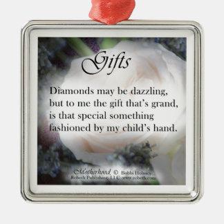 Motherhood Poetry Gift Items Diamonds Christmas Ornaments