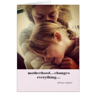 'Motherhood' quote card