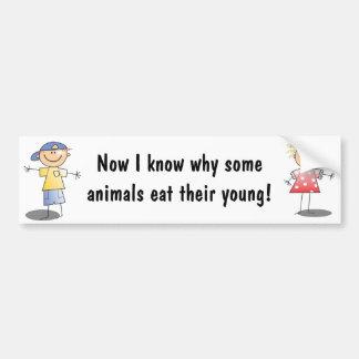 Motherhood Sayings Bumpersticker Car Bumper Sticker