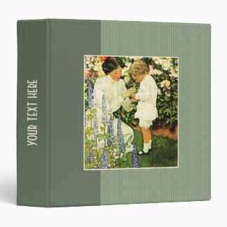 Motherhood. Vintage Art Mother's Day Gift Binders
