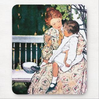 Motherhood. Vintage Art Mother's Day Gift Mousepad