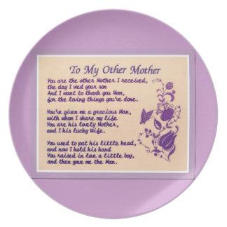 motherin law- melamine plate