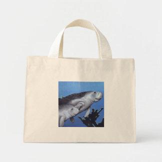 Mothering Manatee Mini Tote Bag