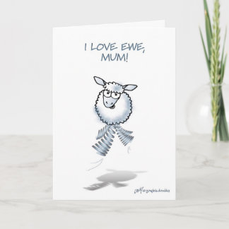 "Mothering Sunday ""I love ewe, Mum! Card"