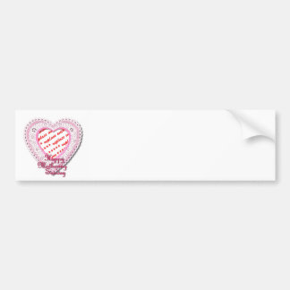 Mothering Sunday Laced Heart Photo Frame Car Bumper Sticker