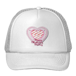 Mothering Sunday Laced Heart Photo Frame Trucker Hat