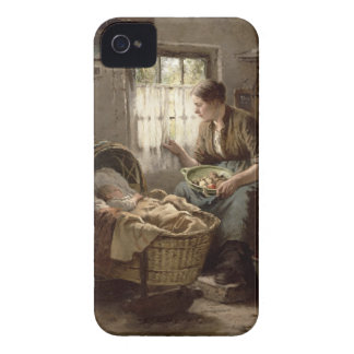 Motherly Affection (oil on canvas) iPhone 4 Case