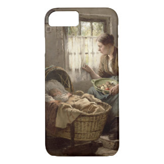 Motherly Affection (oil on canvas) iPhone 7 Case