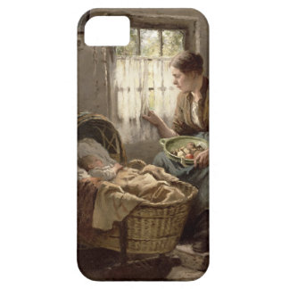 Motherly Affection (oil on canvas) iPhone SE/5/5s Case