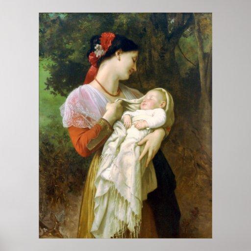 Motherly Love Bouguereau Fine Art Poster