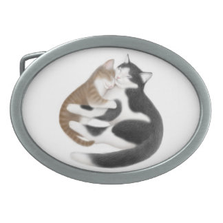 Motherly Love Cats Belt Buckle
