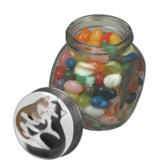 Motherly Love Cats Candy Jar Glass Jar