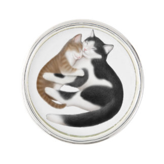 Motherly Love Cats Lapel Pin
