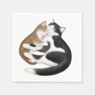 Motherly Love Cats Paper Napkins