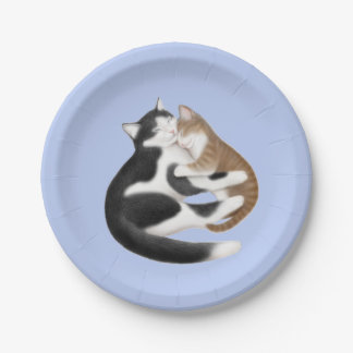Motherly Love Cats Paper Plates