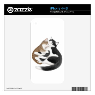Motherly Love Cats Zazzle Skin Skin For iPhone 4S