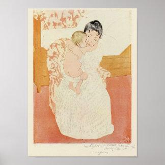 Motherly tenderness by Mary Stevenson Cassatt Posters