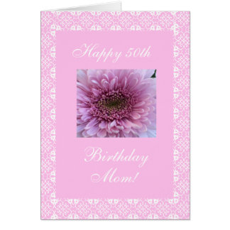 Mother's 50th birthday rose card