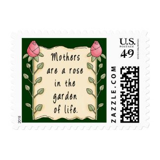 Mothers Are a Rose Stamp