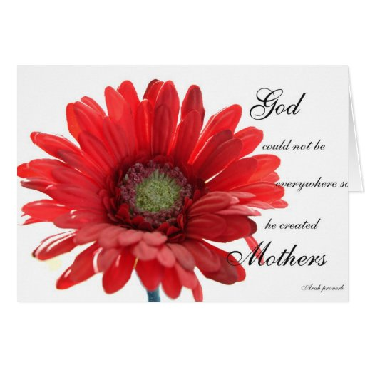 Mothers are Special Red Gerber Daisy Card