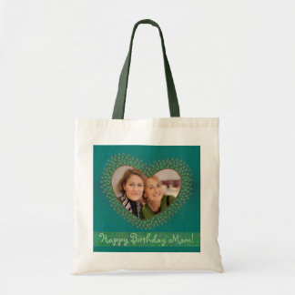 Mother's birthday decorated heart photo frame bags