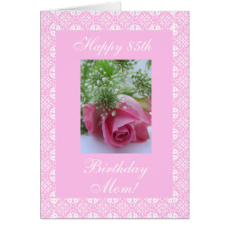Mother's birthday rose card