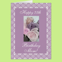 Mother's birthday roses pastels card