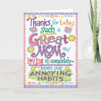 Mothers Cards card