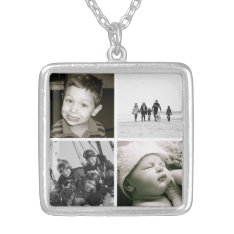 Mother's Children Photo Collage Necklace at Zazzle