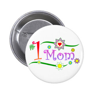 Mother's Day - #1 Mom Button