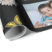 Mother's Day 3 Photos w/Butterflies Wrapping Paper
