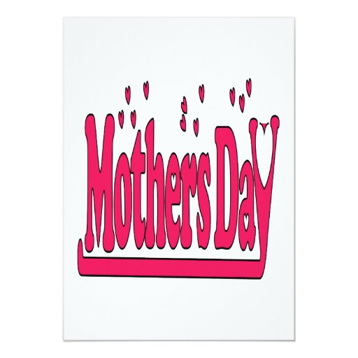 Mothers Day 5x7 Paper Invitation Card