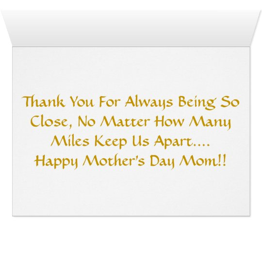 Mother's Day Across The Miles Card