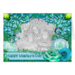 Mothers Day - ADD YOUR PHOTO - Blue Fantasy Greeting Card