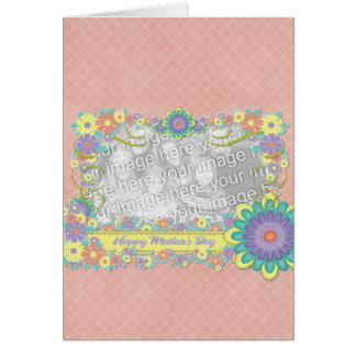 Mothers Day - ADD YOUR PHOTO - Spring Flowers Card