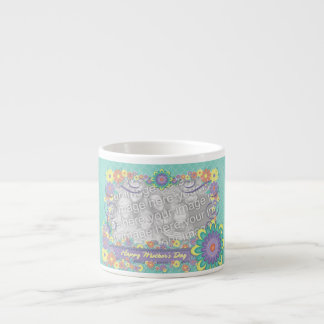 Mothers Day - ADD YOUR PHOTO - Spring Flowers Espresso Cup