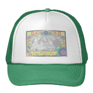 Mothers Day - ADD YOUR PHOTO - Spring Flowers Trucker Hat